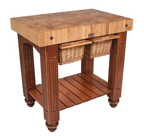 Maple End Grain Butcher Block With Basket Drawers