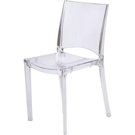 chaises transparentes pas cher