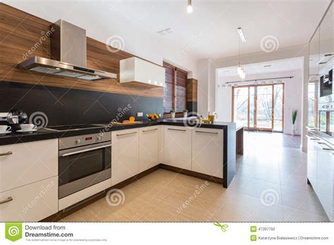 cuisine ouverte sur la salle 224 manger photo stock image
