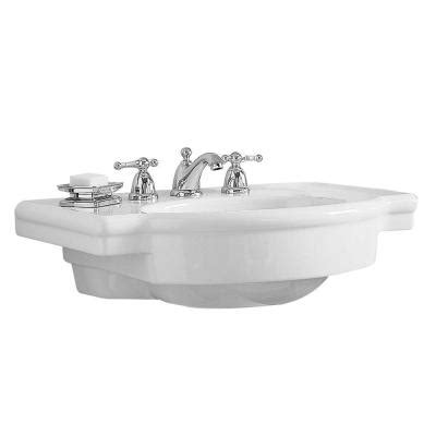 american standard retrospect 27 in w pedestal sink basin in white 0282 008 020 the home depot