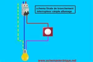 schema branchement cablage interrupteur simple allumage