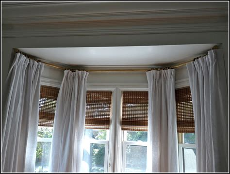 Home Curtain : Traverse Curtain Rods For Bay Windows-curtains