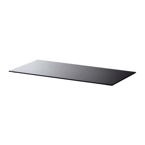 Ikea Desk Tops Australia by Glasholm Table Top Glass Black Ikea