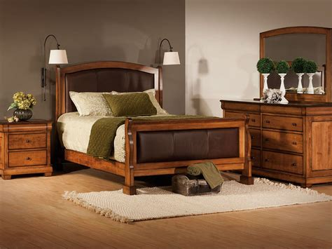 Amelie Leather Upholstered Bed  Countryside Amish Furniture