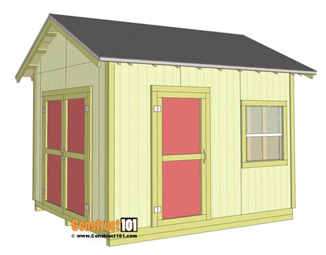Shed Plans 10x12 Gable Shed  Stepbystep  Construct101. Garage Door Repair Fresno. Exterior Home Doors. Www.garage Doors. Garage Doors Carriage Style