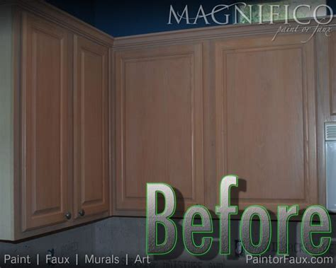 builder grade oak cabinets with pickled oak stain before cabinet refinishing yuck cabinet