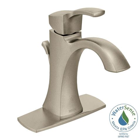 moen voss single 1 handle high arc bathroom faucet in
