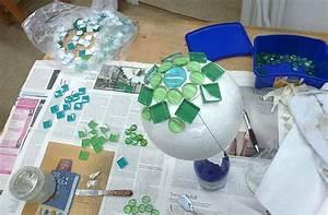Basteln Mit Mosaiksteinen : mosaikkugel f r den au enbereich frostsicher handmade kultur ~ Whattoseeinmadrid.com Haus und Dekorationen