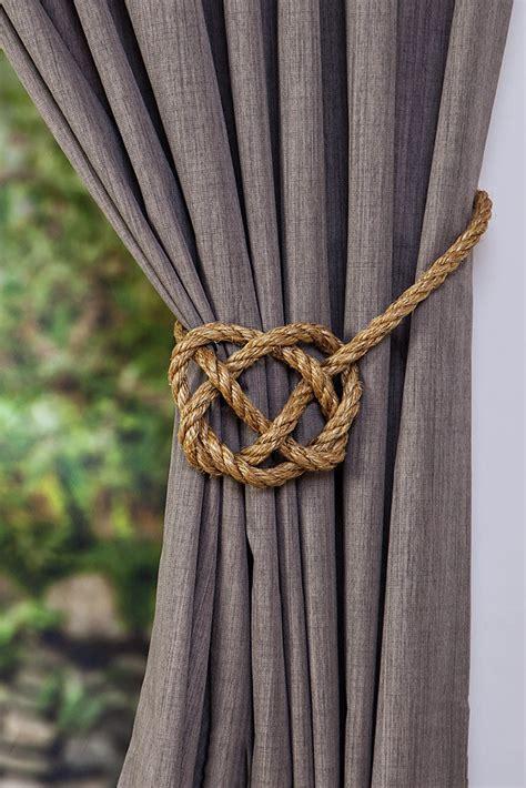 large manila rope celtic curtain tie backs rustic ties