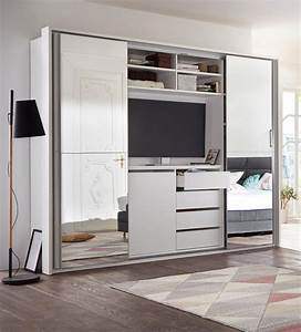 Kleiderschrank Mit Platz Für Fernseher : schwebet renschrank mit tv fach und spiegel kaufen otto ~ Markanthonyermac.com Haus und Dekorationen