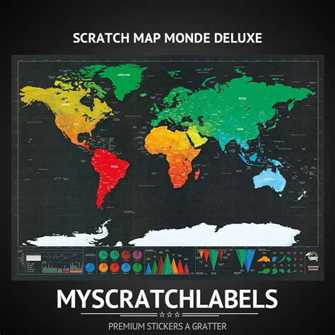 carte 224 gratter monde deluxe www myscratchlabels