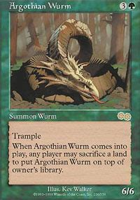 argothian wurm urza s saga magic the gathering gaming store for cards miniatures
