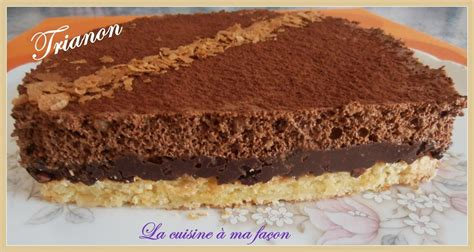 trianon ou royal chocolat la cuisine 224 ma fa 231 on