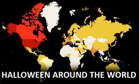 Which Countries Celebrate Halloween The Most by Interactive World Map Halloween Traditions From Around