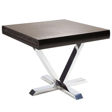 dvl deco table carr 233 e extensible blanche laqu 233 e pas cher achat vente tables 224