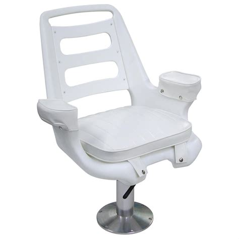 wise 174 offshore wide captain s chair with pedestal white 141413 fishing chairs at