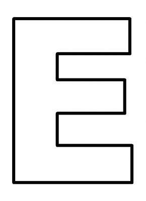 diferença page e template 6 best images of large printable letter e letter e