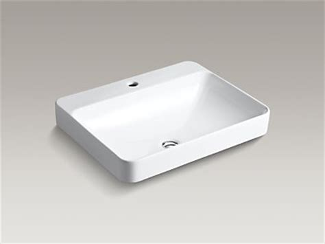kohler k 2660 1 vox rectangle vessel sink with single faucet