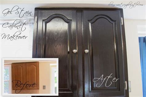 gel stain cabinet makeover before after projects