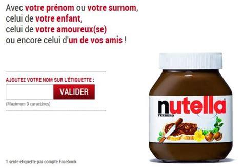 etiquette nutella pr 233 nom gratuite 224 personnaliser et 224 imprimer