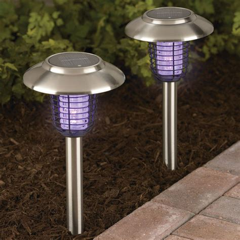outdoor solar lights solar insect zappers accent lights the green