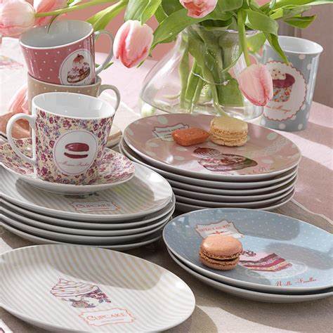 mug et assiette assorties my girly world