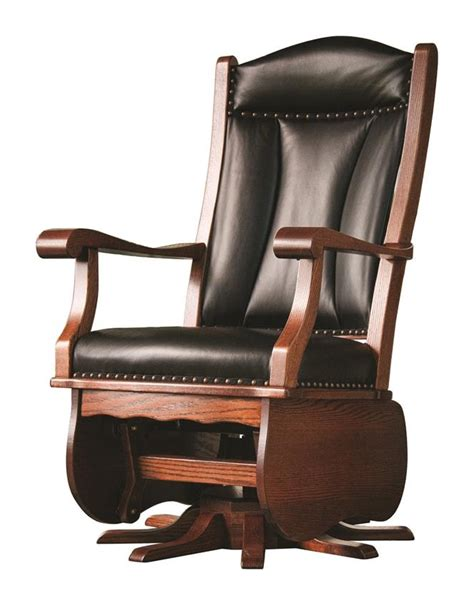 amish heritage swivel glider rocking chair