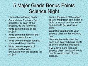 PPT - 5 Major Grade Bonus Points Science Night PowerPoint ...