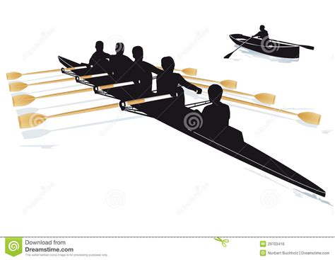 Quad Row Boat by Rowing Boats Royalty Free Stock Image Image 29703416