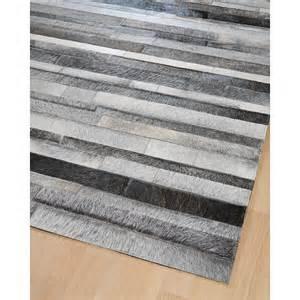 tapis en patchwork de cuir gris jacob home spirit 200x300