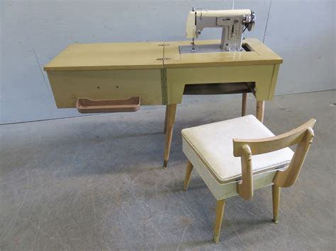 transitional design auctions vintage sears kenmore sewing machine cabinet