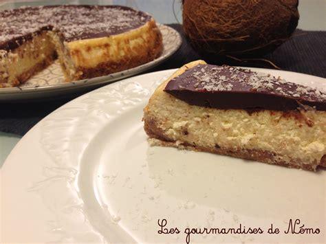 cheesecake fa 231 on bounty noix de coco et chocolat les gourmandises de n 233 mo