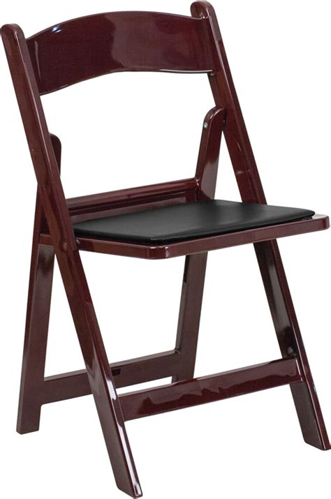 hercules series 1000 lb capacity mahogany resin folding chair with black vinyl padded seat
