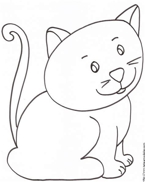 coloriage du petit chat assis t 234 te 224 modeler