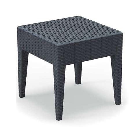 table basse de jardin carr 233 e en r 233 sine tress 233 e miami 4 pieds tables chaises et tabourets