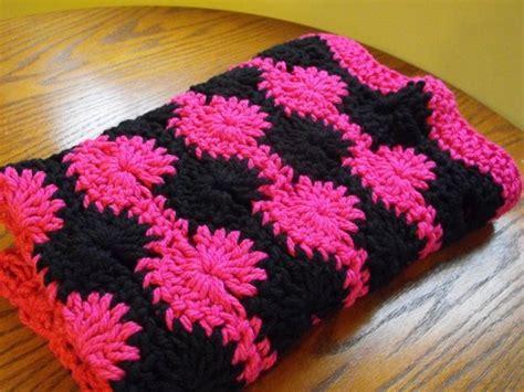 Crochet Pattern Chunky Yarn Baby Blanket Swirls Stroller