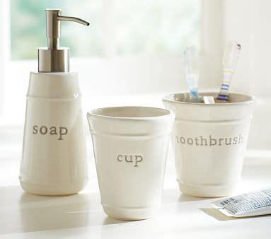 gray bath accessory set pottery barn