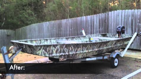 Deck Boat Job by Camo Paint Job For A Duck Boat Jon Boat Youtube