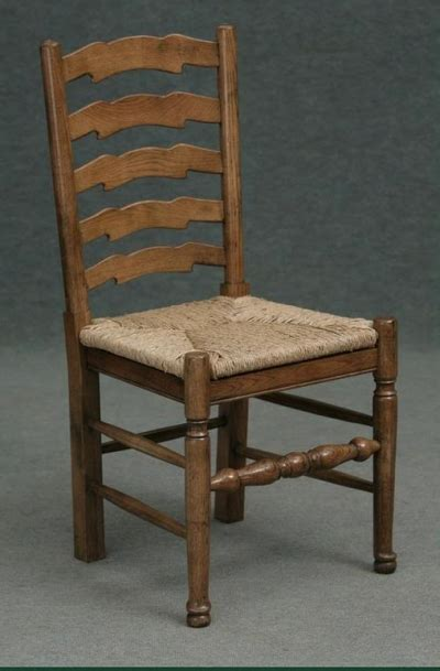 ladder back chair made from solid oak with seat pad farmhouse