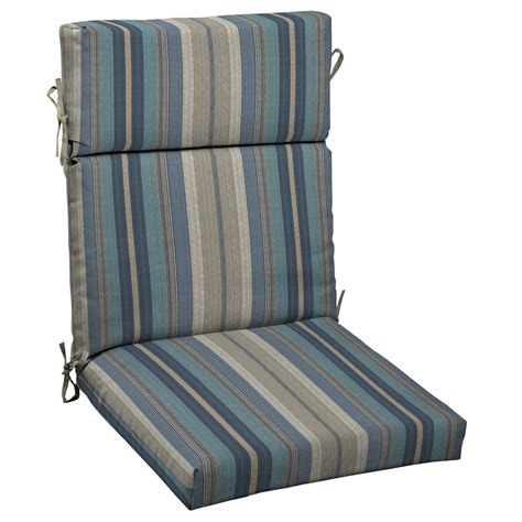 shop allen roth stripe standard patio chair cushion at lowes