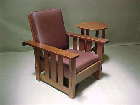 voorhees craftsman mission oak furniture stickley brothers reclining morris chair
