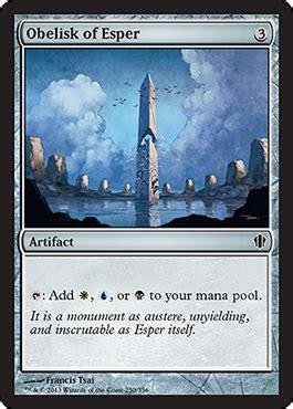 obelisk of esper from commander 2013 spoiler