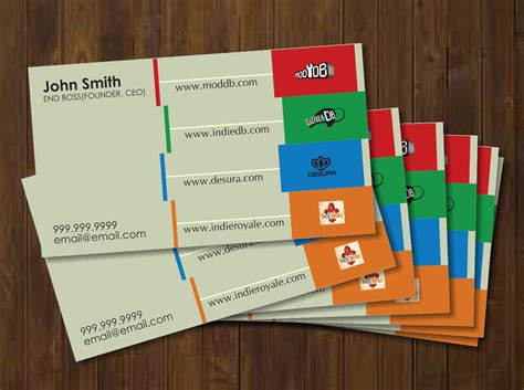 20 Playful Modern Games Business Card Designs For A Games