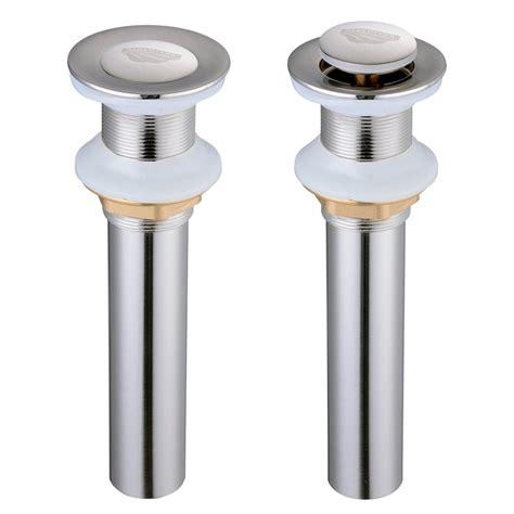 1 1 2 quot bathroom sink overflow or non overflow brass pop up