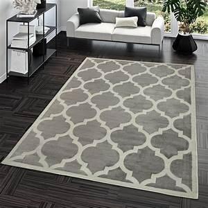 Türkische Teppiche Modern : kurzflor teppich modern marokkanisches design wohnzimmer interior trend grau moderne teppiche ~ Markanthonyermac.com Haus und Dekorationen