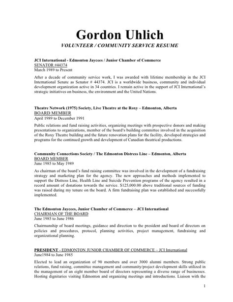 Gord Uhlich Volunteer And Community Development Resume. Qa Sample Resumes. Resume Writing Software Reviews. Sample Of Objectives Resume. Social Work Sample Resume. Sample Resume For Business Analyst Position. Resume And Cover Letter Example. International Student Resume. Resume For After School Program