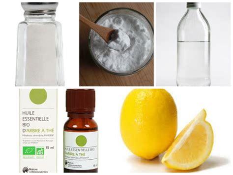 5 produits naturels pour le m 233 nage sel bicarbonate de soude vinaigre blanc huile essentielle
