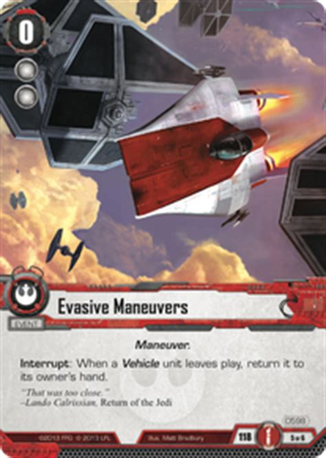 evasive maneuvers it binds all things wars lcg