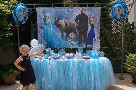 decoration pour anniversaire reine des neiges