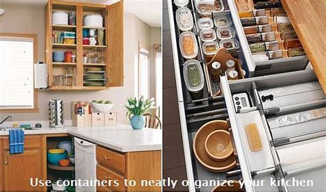 Use Containers To Neatly Organize Your Kitchen